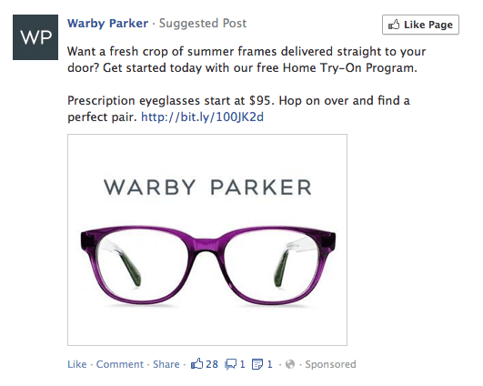 Facebook Suggested Post Example