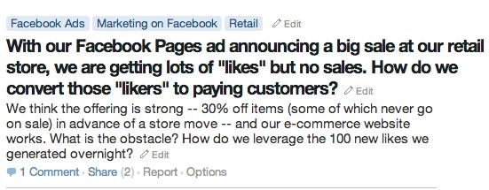 Quora Facebook Ads Question