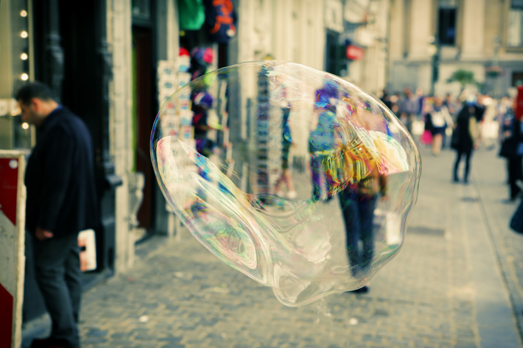 Brussels City Soap Bubble Photo