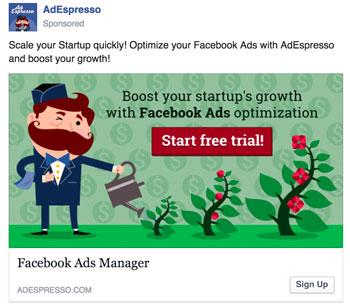 facebook ad startup