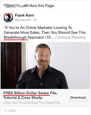 spammy facebook ad