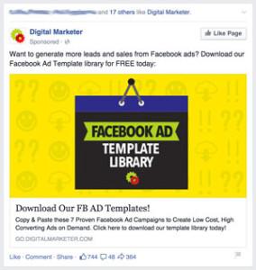 Digital Marketer Facebook Ad LeadGen