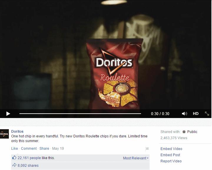 Doritos lead generation campaign