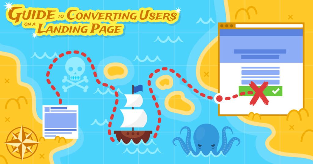 Guide Coverting Users on a Landing Page Illustration