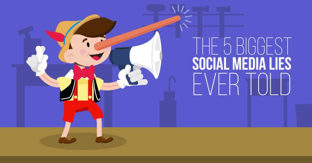 Social Media Lies Illustration