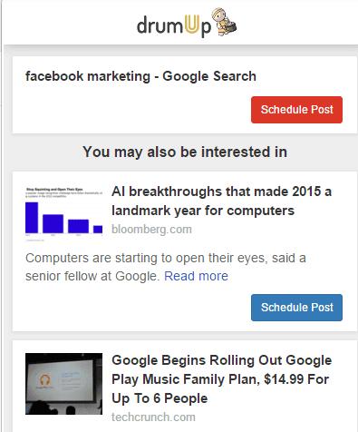 Relevant articles extension Chrome