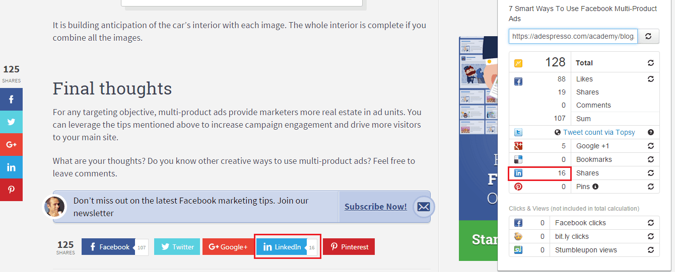 Social Analytics Google Chrome