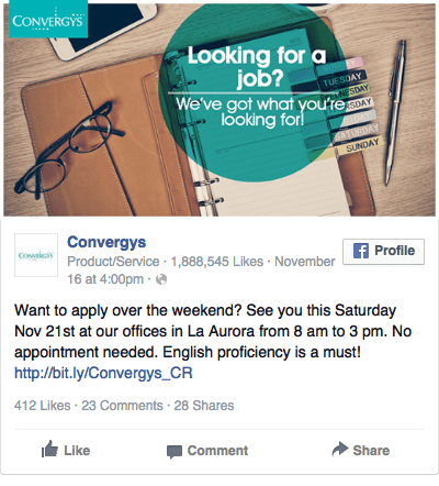 Convergys job advertisement   Facebook Ads   Pinterest   Job ...