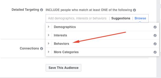 Behavioural targeting Facebook