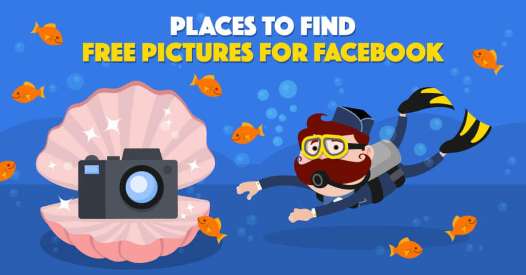 Places to Find Free Pictures for Facebook - Illustration