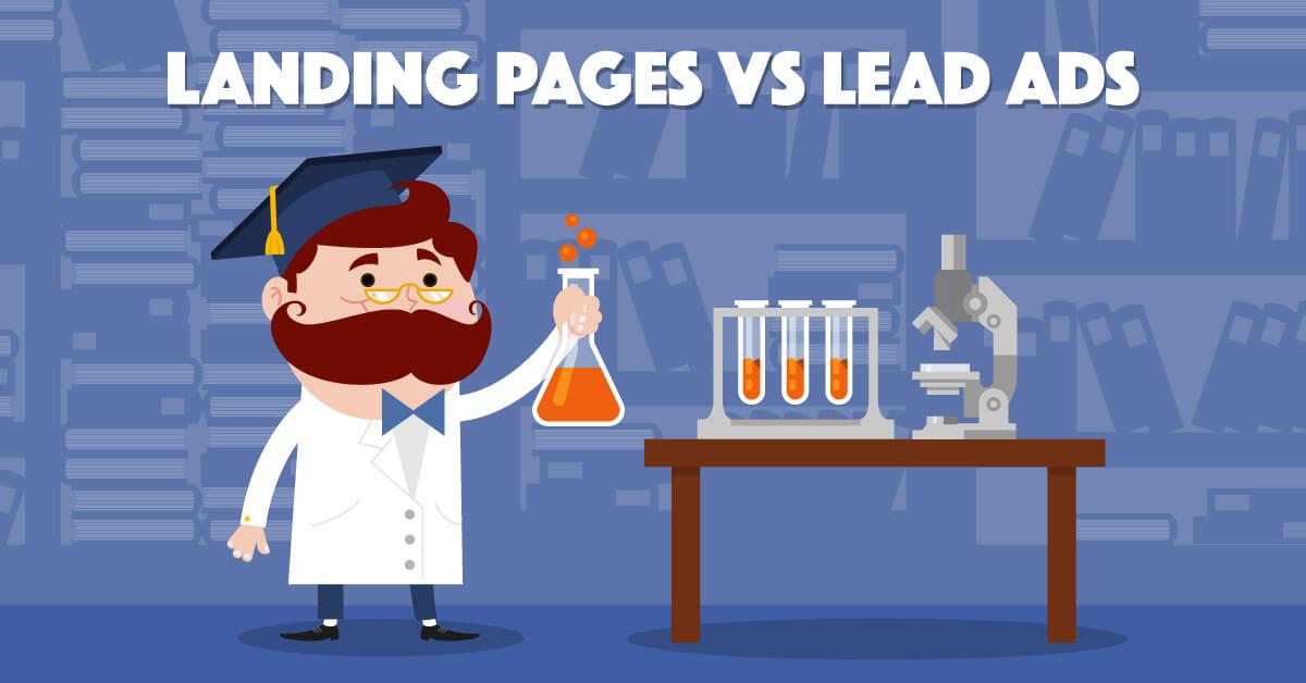 Landing Pages vs Facebook Lead Ads - Illustration