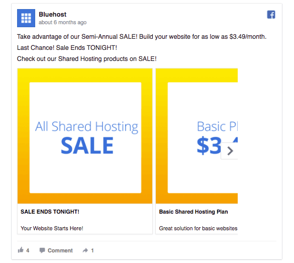 bluehost-sale-ad