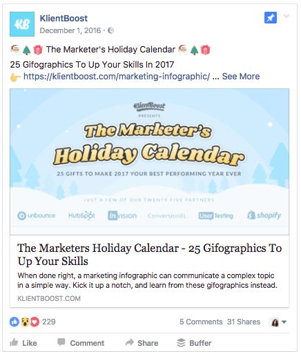 KlientBoost Facebook ad example