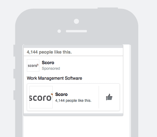 Facebook like campaign on mobile
