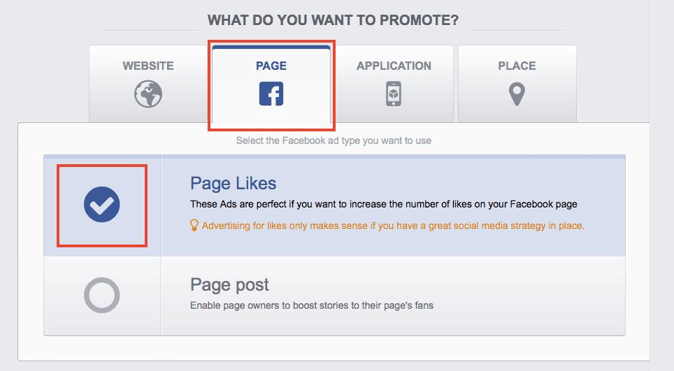 create a Facebook Like campaign in AdEspresso