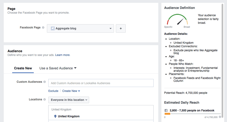 how to create facebook like campaign