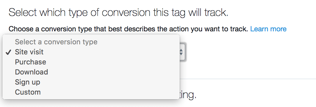 twitter conversion events