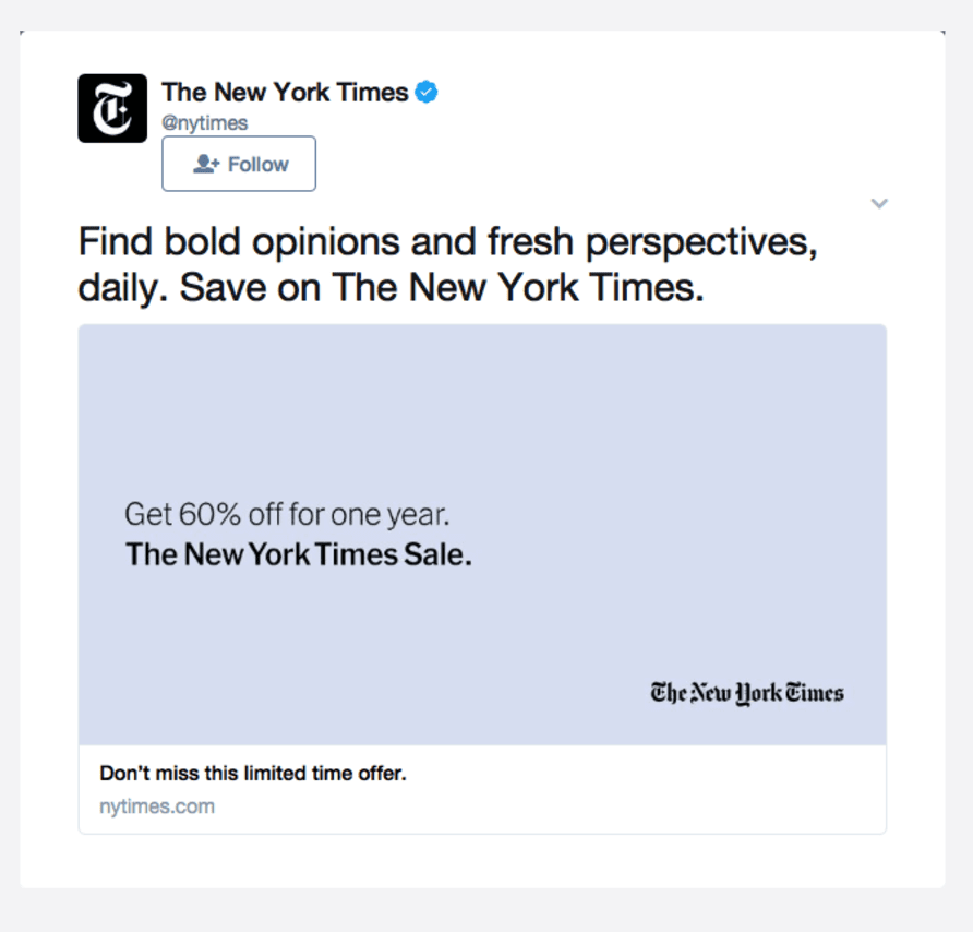 new york times twitter ad