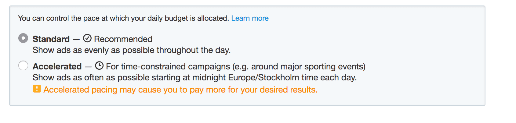 twitter ad pacing
