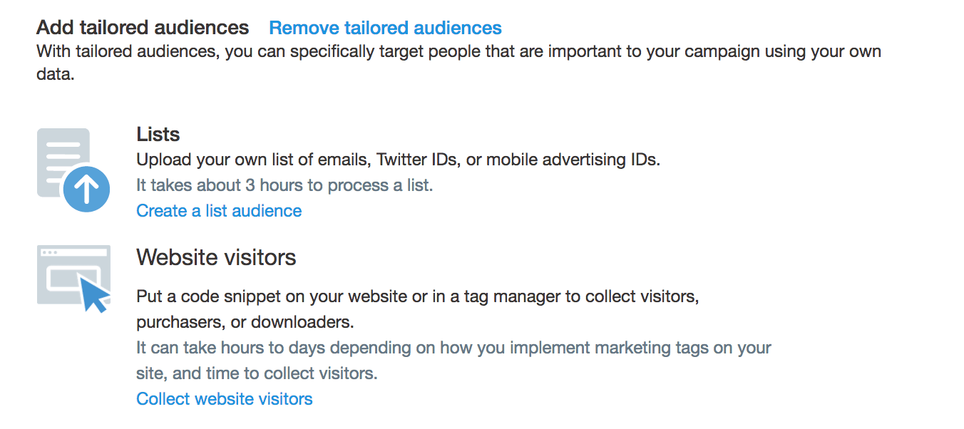 twitter tailored audiences