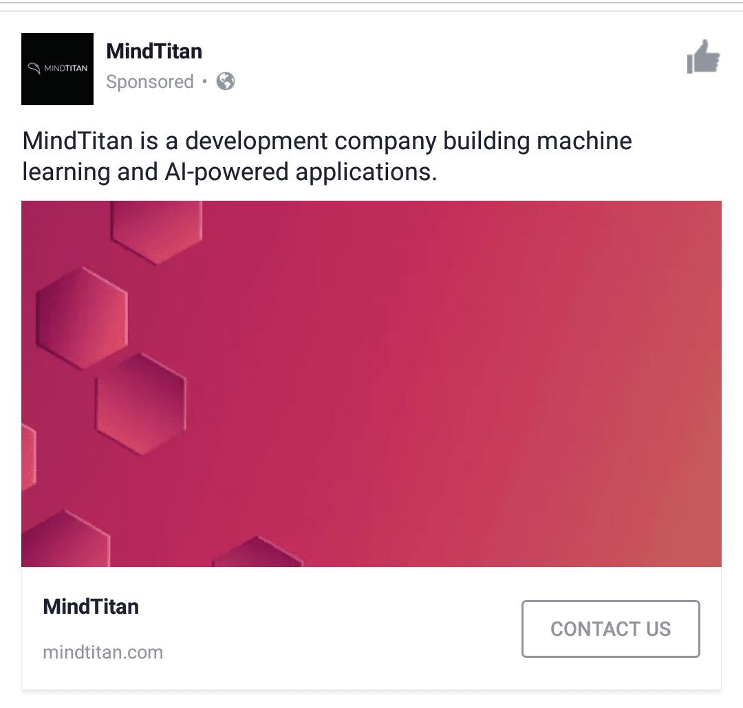 mindtitan facebook ad
