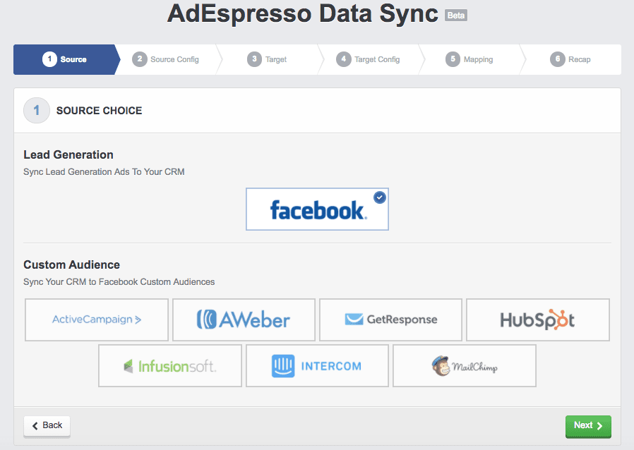 AdEspresso data sync on Facebook