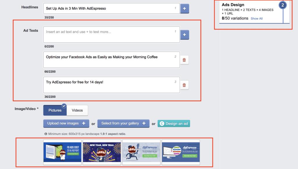 running an A/B test on Facebook