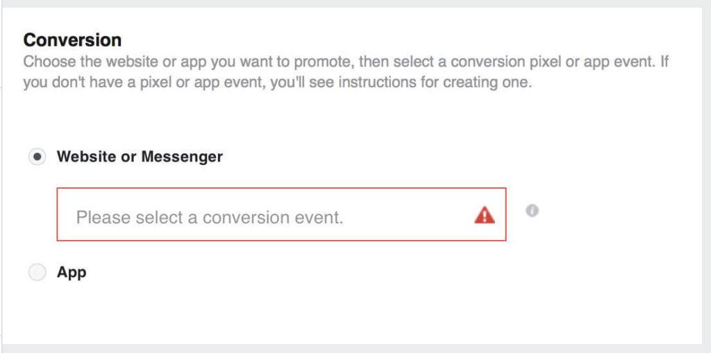 pixel facebook conversion