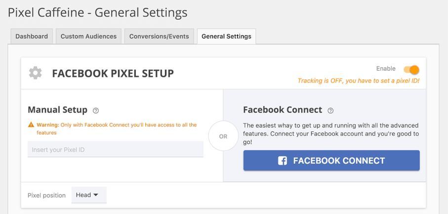 Pixel Caffeine - general settings