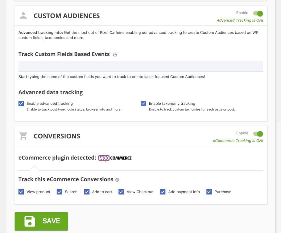 custom audiences in pixel