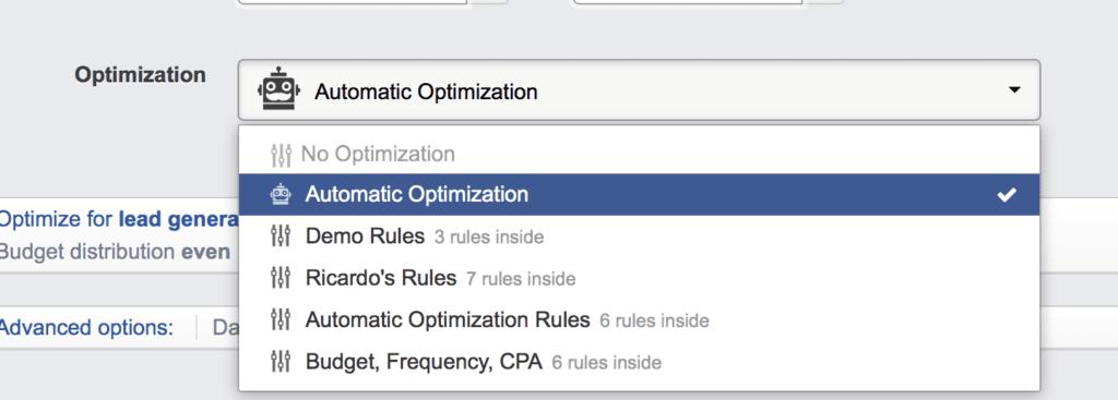 automatic optimization on facebook