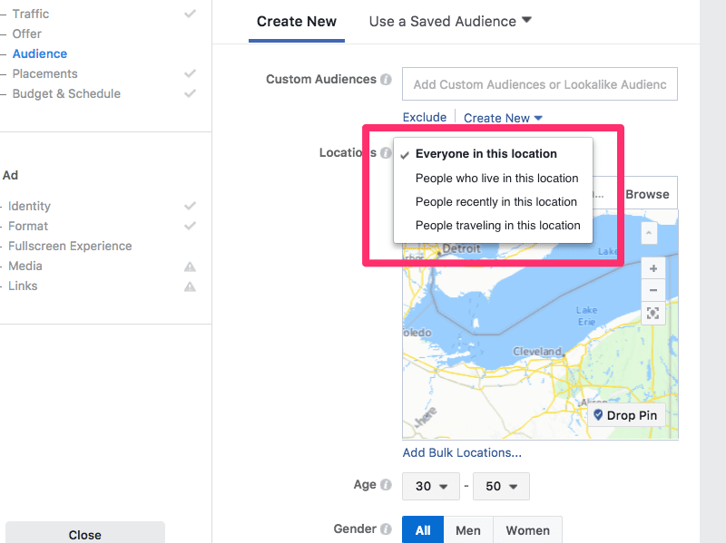 geo-targeting on facebook