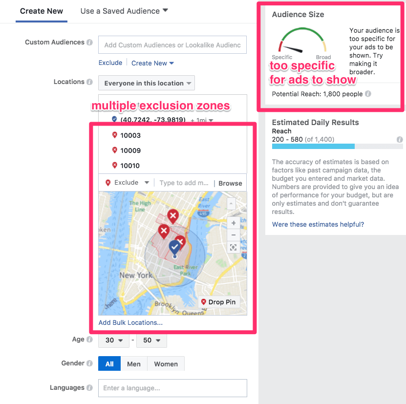 how to use geo-targeting in facebook ads