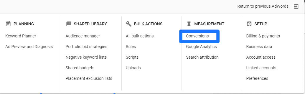 How To Use Google AdWords: set up conversion tracking