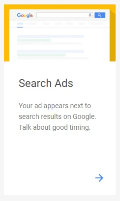 search ads on google