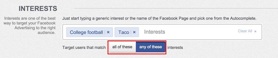 interest targeting on facebook relevance score
