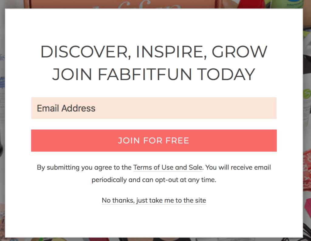 FabFitFun call to action examples