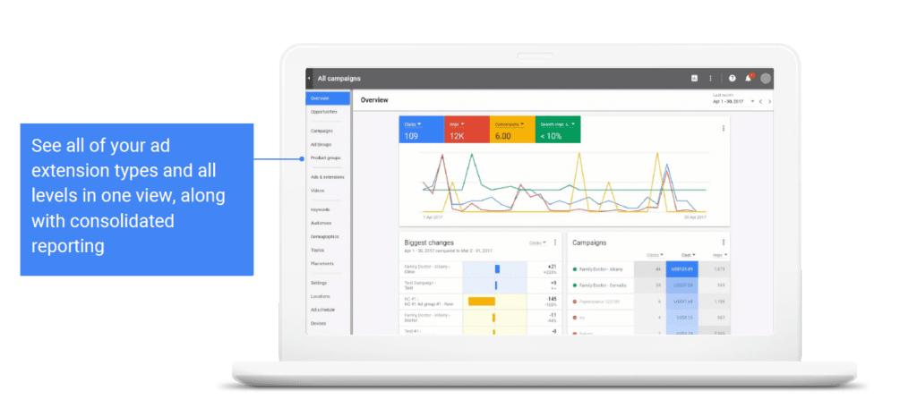 extension types Google AdWords latest updates