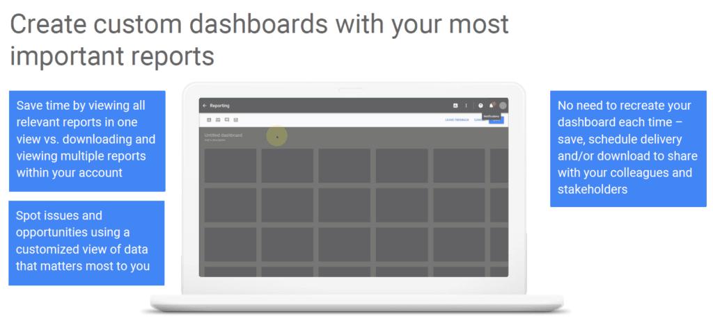 create custom dashboards in Google