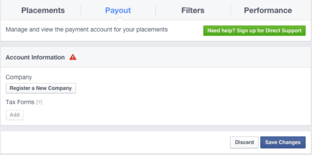 facebook audience network screenshot