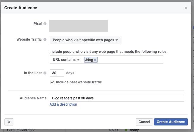 create audience screenshot on facebook