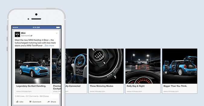 Facebook Ad guidelines carousel example