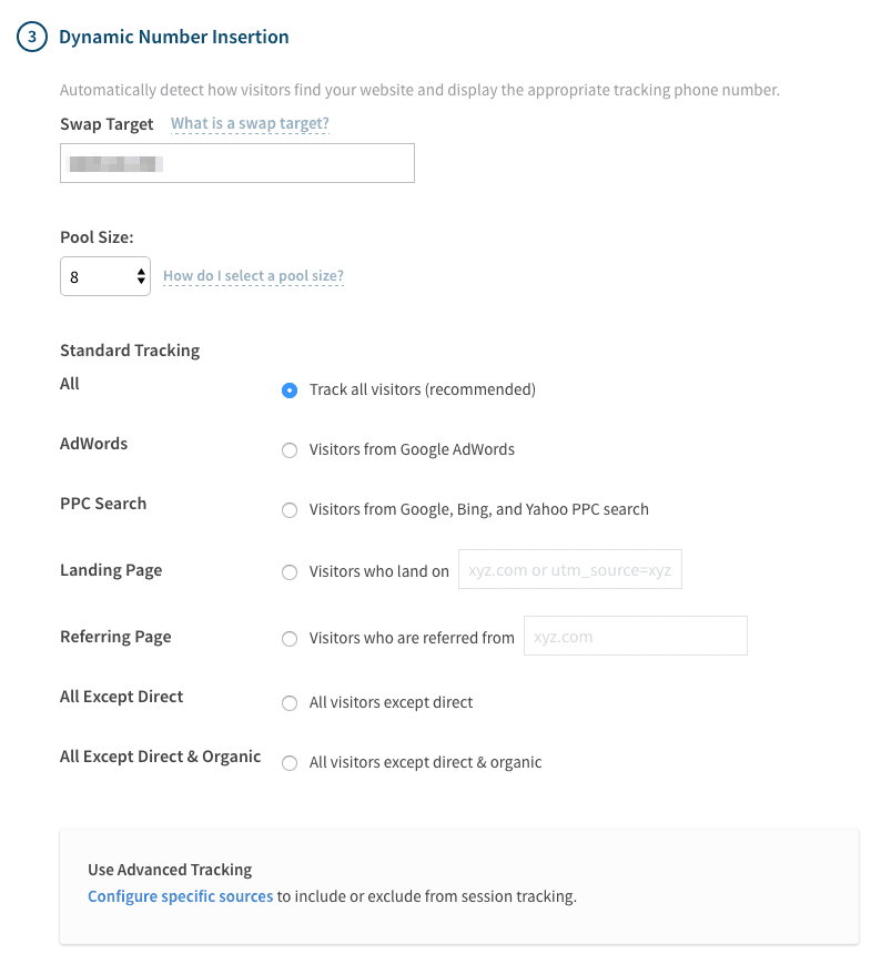 callrail call tracking example screenshot