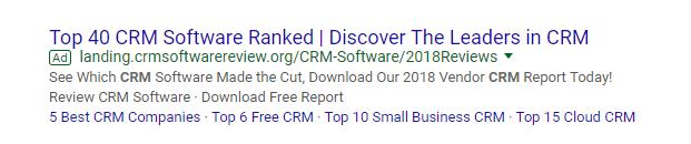 best crm adwords screenshot