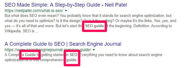 seo guide search result screenshot