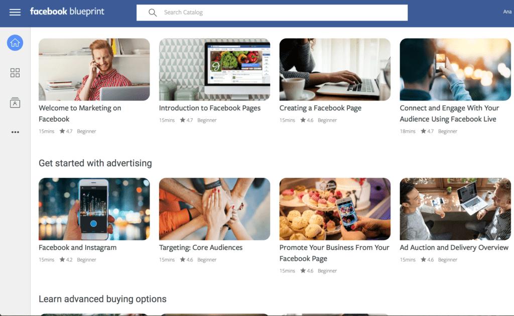 Facebook Blueprint screenshot