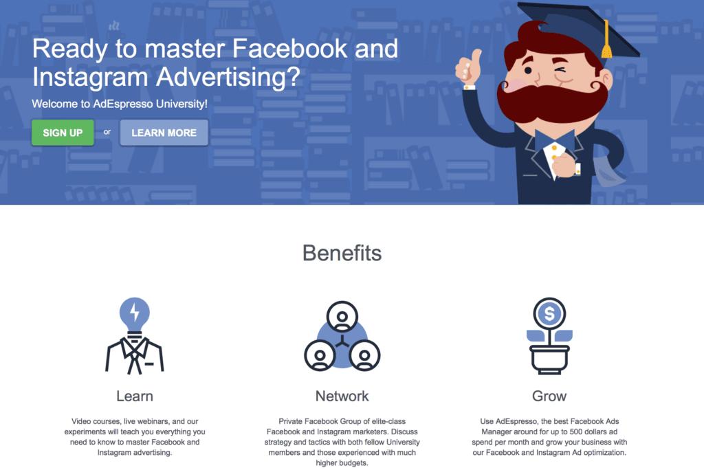AdEspresso Facebook course screenshot