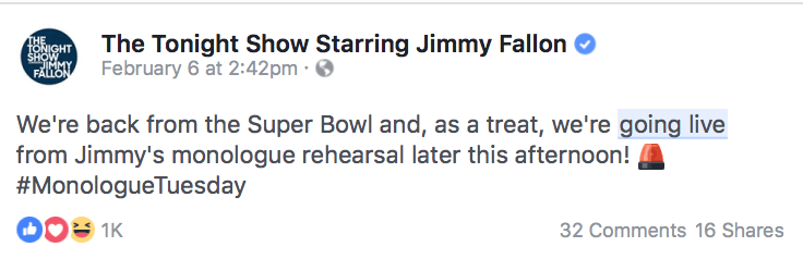 Facebook live video ads
