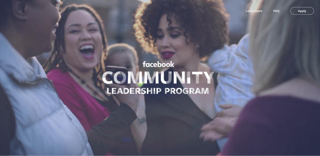 facebook community leadership program