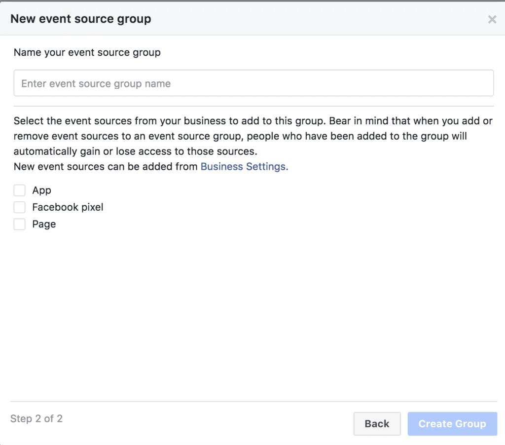 Facebook analytics setup